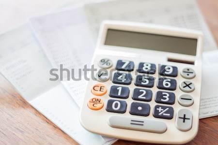 калькулятор пер блокнот отмечает складе фото Сток-фото © punsayaporn