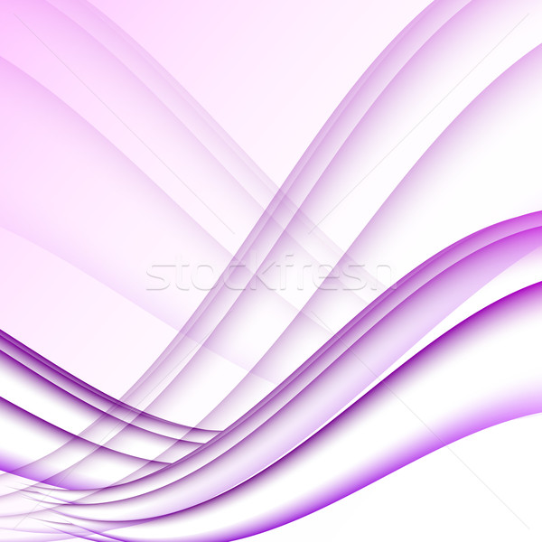 Violet and white waves modern futuristic abstract background Stock photo © punsayaporn