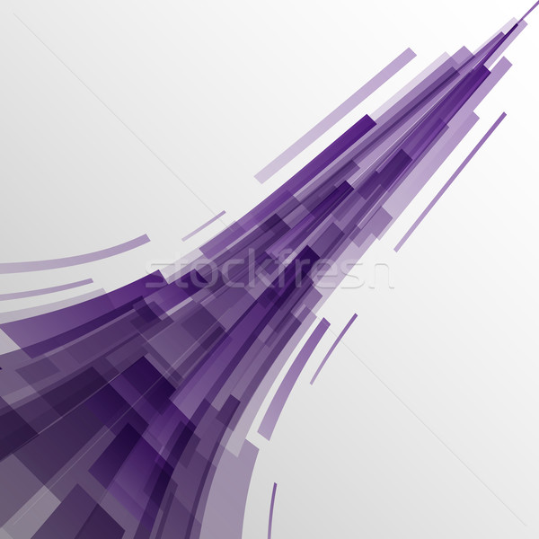 Abstract violet rectangles technology background Stock photo © punsayaporn