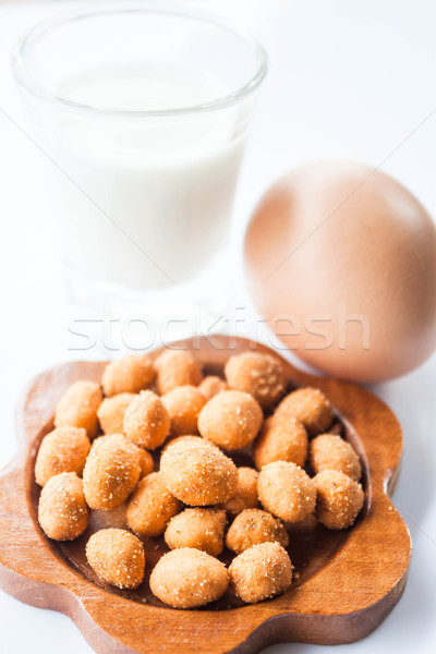 Spicy peanut, low fat milk and egg Stock photo © punsayaporn