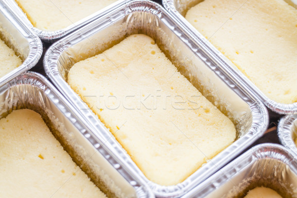 Delicious square box cheese cake Stock photo © punsayaporn