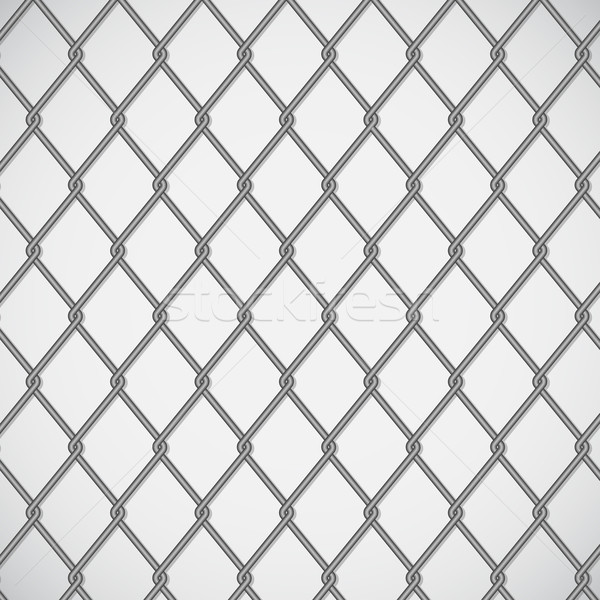 Wire fence on white background Stock photo © punsayaporn