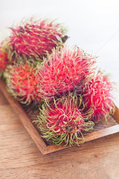 Friss tálca stock fotó étel természet Stock fotó © punsayaporn