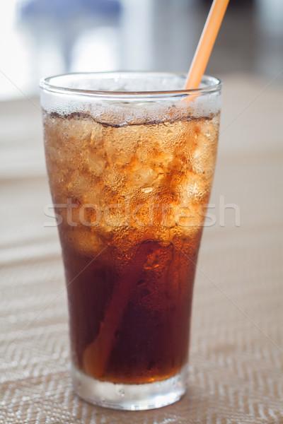Glas cola ijs voorraad foto water Stockfoto © punsayaporn