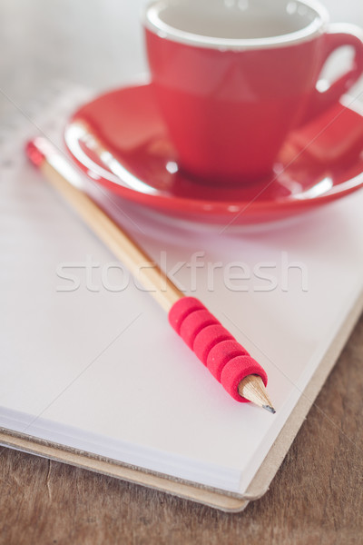 Rouge mug ouvrir portable stock photo Photo stock © punsayaporn