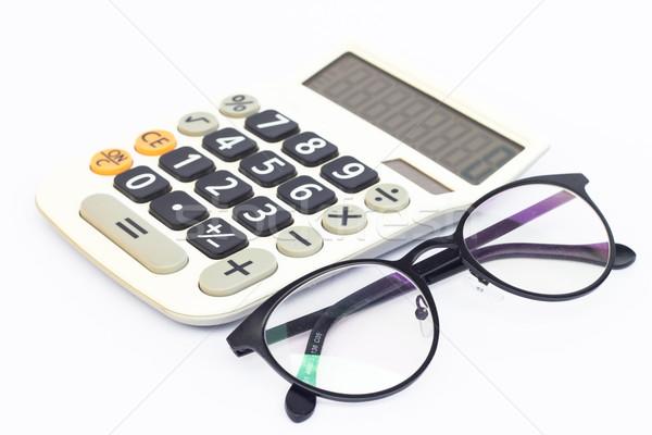 Calculator bril geïsoleerd witte voorraad foto Stockfoto © punsayaporn
