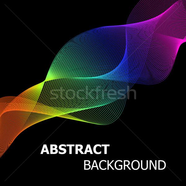 Kleurrijk abstract lijnen golf voorraad vector Stockfoto © punsayaporn