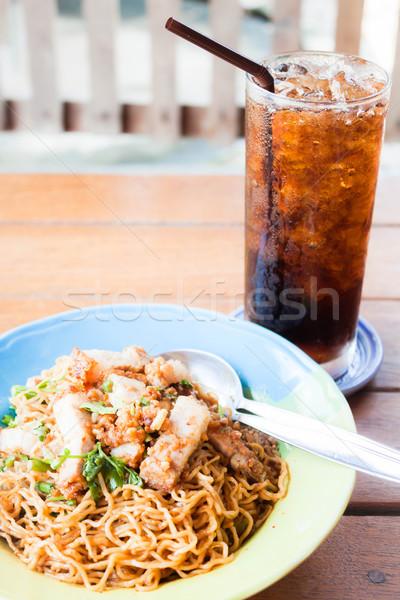 быстро еды жареный пряный Сток-фото © punsayaporn