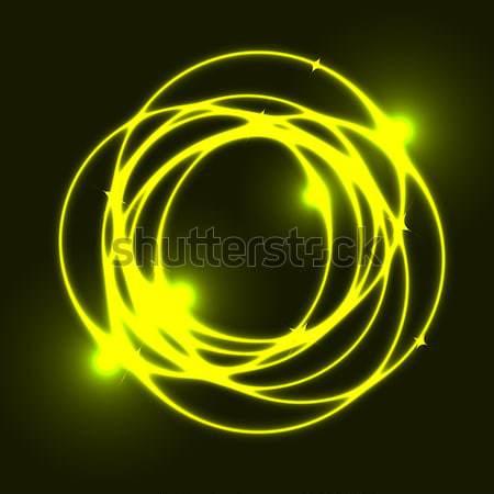 Gelb Plasma Kreis Wirkung hat Vektor Stock foto © punsayaporn