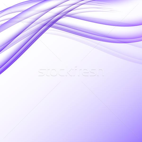 Сток-фото: Purple · белый · волны · современных · футуристический · аннотация