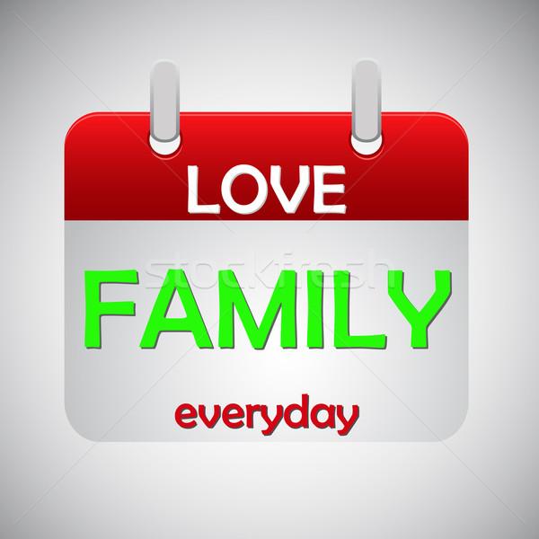 Miłości rodziny codzienny kalendarza ikona papieru Zdjęcia stock © punsayaporn