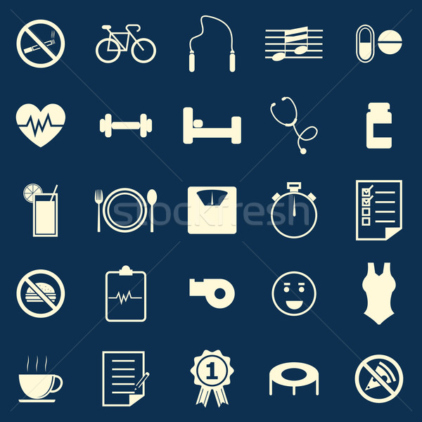 Wellness color icons on blue background Stock photo © punsayaporn