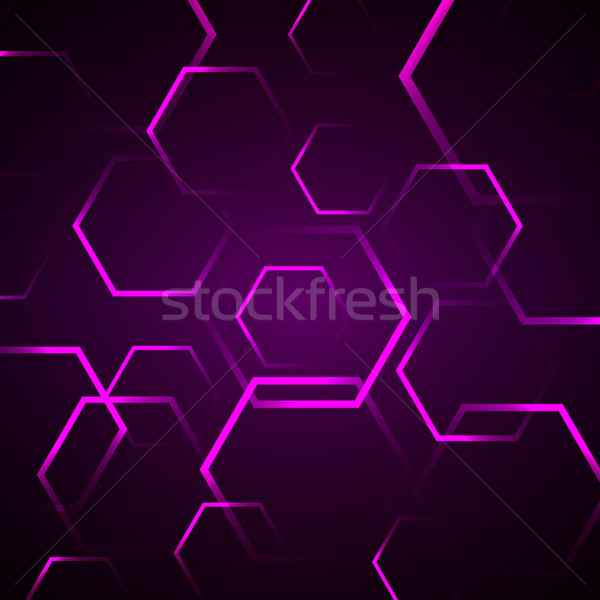 Abstract violet zeshoek voorraad vector computer Stockfoto © punsayaporn