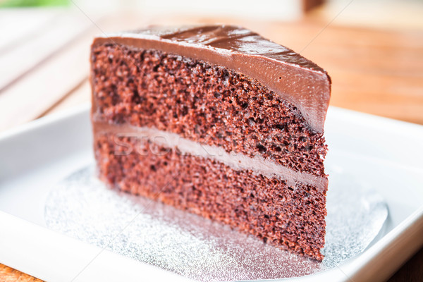 Part of chocolate sponge cake up close Stock photo © punsayaporn