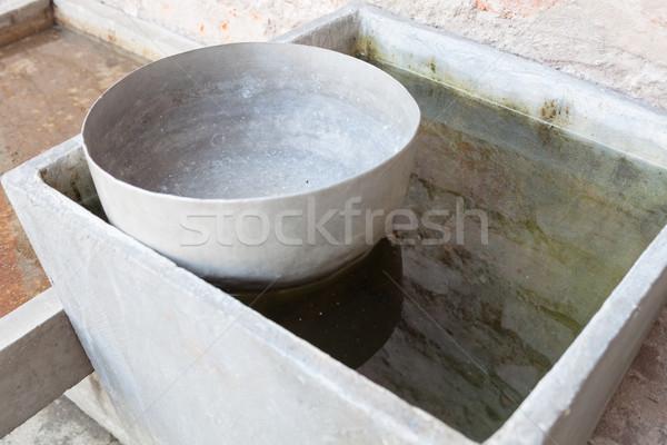 Thai used water bowl Stock photo © punsayaporn
