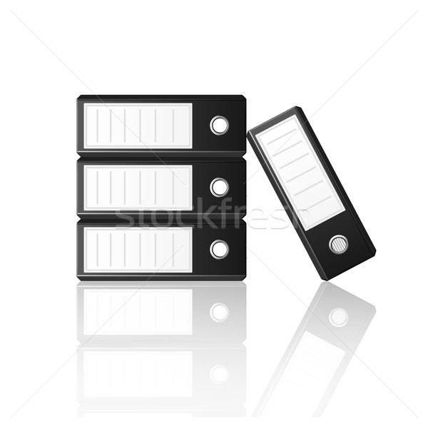 Black binders isolated on white background Stock photo © punsayaporn