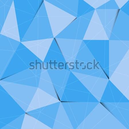 синий многоугольник аннотация треугольник складе вектора Сток-фото © punsayaporn