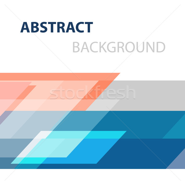 Geometric overlapping business abstract background Stock photo © punsayaporn