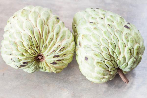 Paar vers vla appel grijs achtergrond Stockfoto © punsayaporn