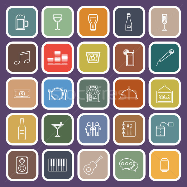バー 行 アイコン 紫色 在庫 ワイン ストックフォト © punsayaporn