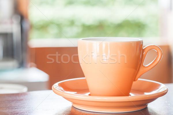 Csendélet narancs eszpresszó kávéscsésze stock fotó Stock fotó © punsayaporn