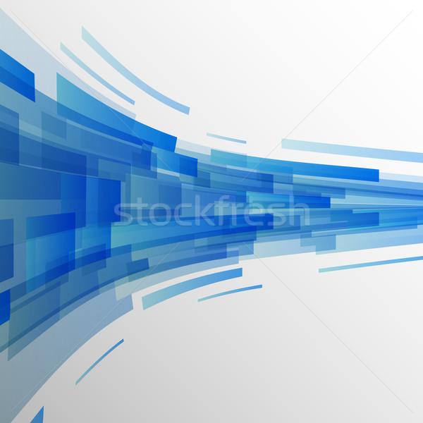 Abstract buio blu tecnologia stock vettore Foto d'archivio © punsayaporn