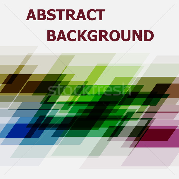 Abstract geometric overlapping design background Stock photo © punsayaporn