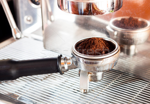 Coffee grind in group with coffee machine with vintage style Stock photo © punsayaporn
