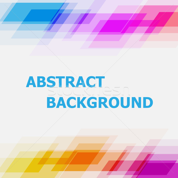 Abstract colorful geometric overlapping background Stock photo © punsayaporn