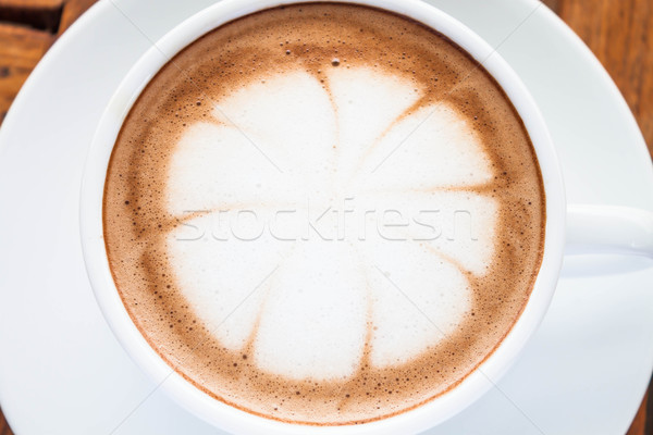 Close up hot cafe mocha in white cup   Stock photo © punsayaporn