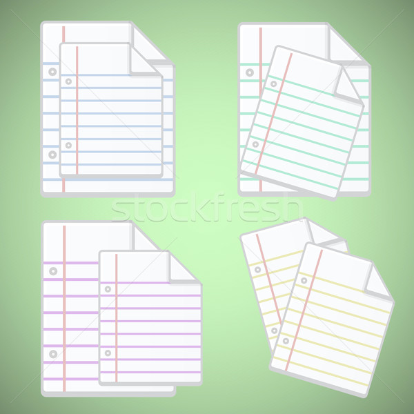 Note paper sheet with colorful lines Stock photo © punsayaporn