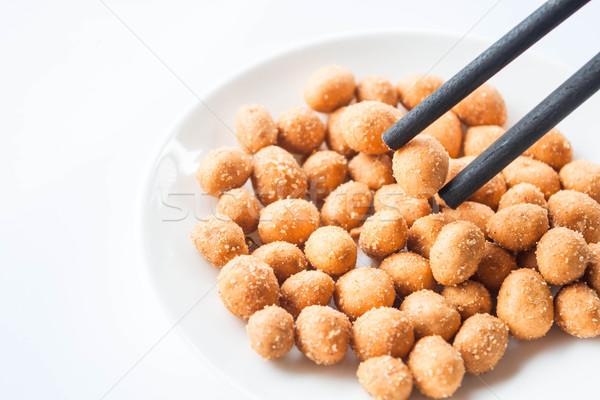 древесины палочки для еды пряный арахис Сток-фото © punsayaporn