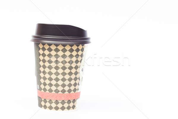 Take-out coffee cup isolated on white background Stock photo © punsayaporn