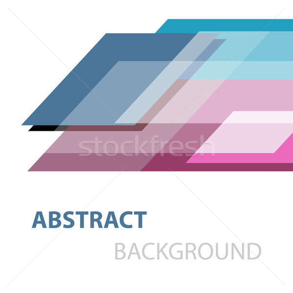 Abstract geometric overlapping on white background Stock photo © punsayaporn