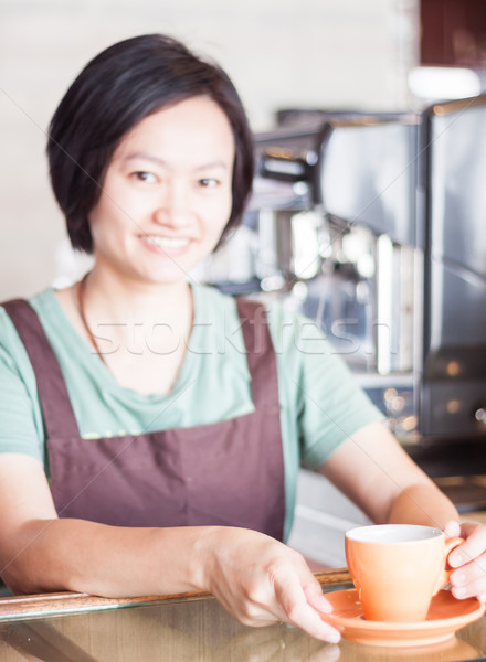 Barista prepares freshly brewed coffee Stock photo © punsayaporn