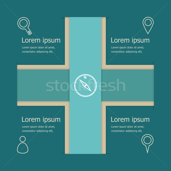 Abstract vector banners infographic template Stock photo © punsayaporn