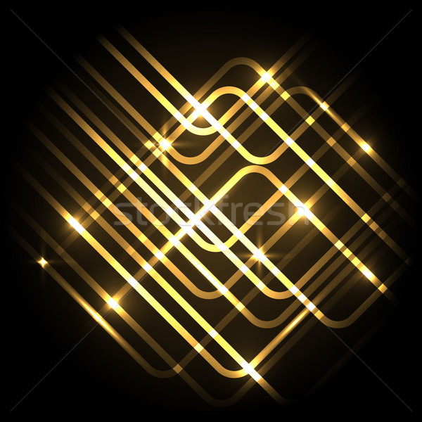 Abstract neon gold background with lines Stock photo © punsayaporn