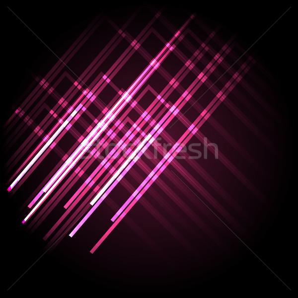 Soyut neon pembe hatları stok vektör Stok fotoğraf © punsayaporn