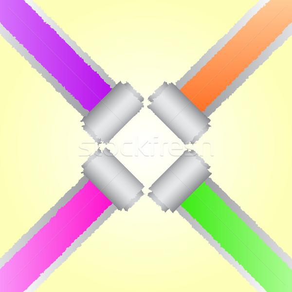 Dizayn köşe gözyaşı renk kâğıt iş Stok fotoğraf © punsayaporn