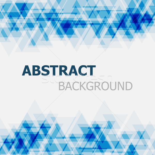 Abstract Blauw driehoek voorraad vector business Stockfoto © punsayaporn