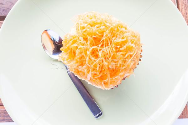 Ouro ovo gema fio copo bolo Foto stock © punsayaporn