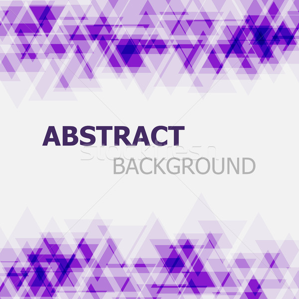 Abstract purple triangle overlapping background Stock photo © punsayaporn
