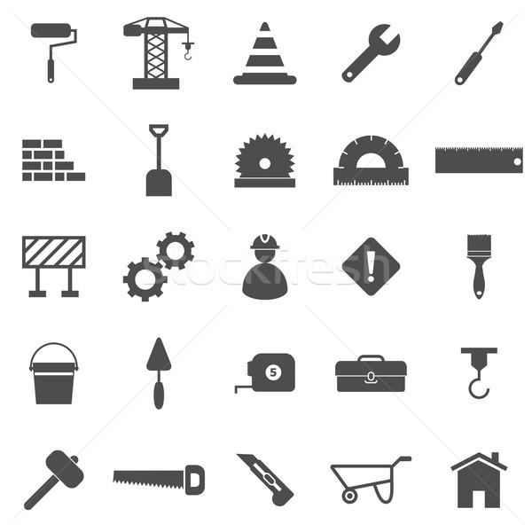 Construction icons on white background Stock photo © punsayaporn