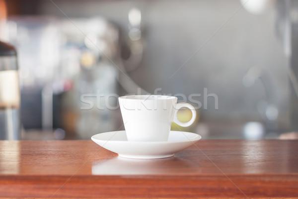 Klein witte koffiekopje coffeeshop voorraad foto Stockfoto © punsayaporn