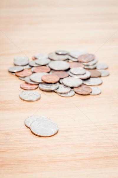 Background made of various US coins Stock photo © punsayaporn