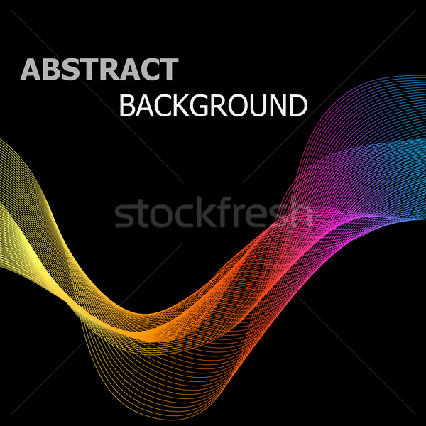 Resumen colorido línea ola negro stock Foto stock © punsayaporn