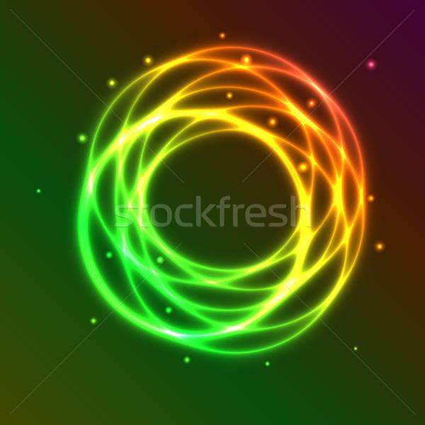Résumé coloré plasma cercle effet lumière Photo stock © punsayaporn