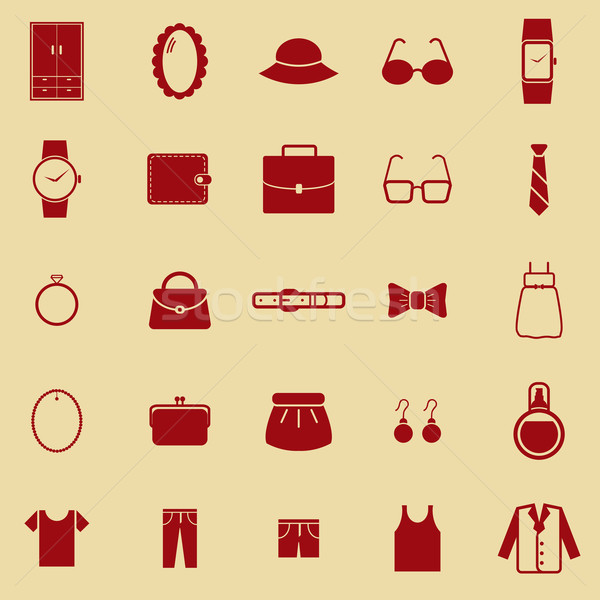 Dressing color icons on brown background Stock photo © punsayaporn