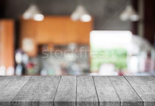 черно белые Top аннотация Blur кофейня Сток-фото © punsayaporn