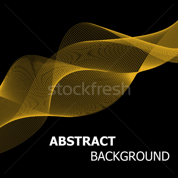 Abstract gouden lijn golf voorraad vector Stockfoto © punsayaporn